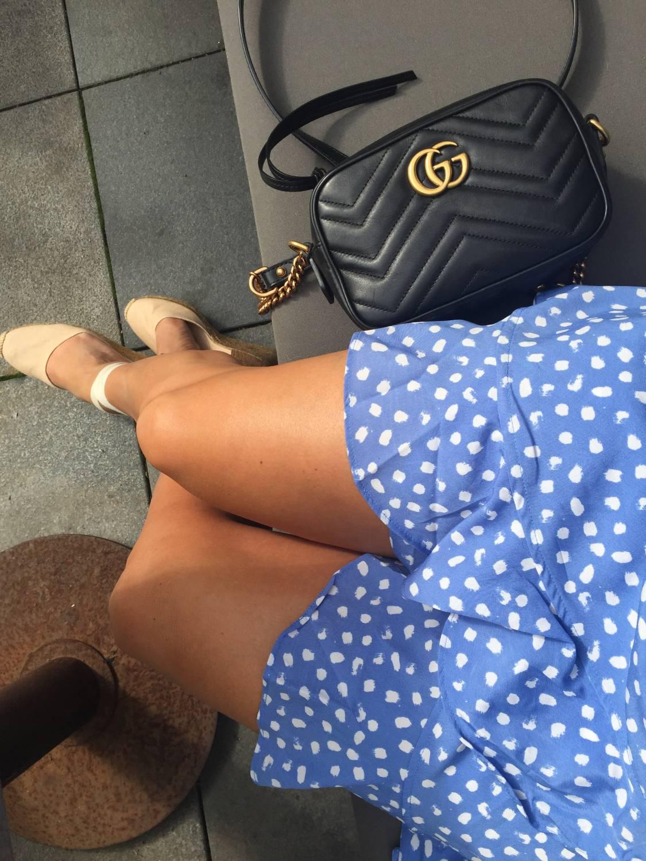 Dagens Outfit, Prickig Omlottklänning, Vera Moda.