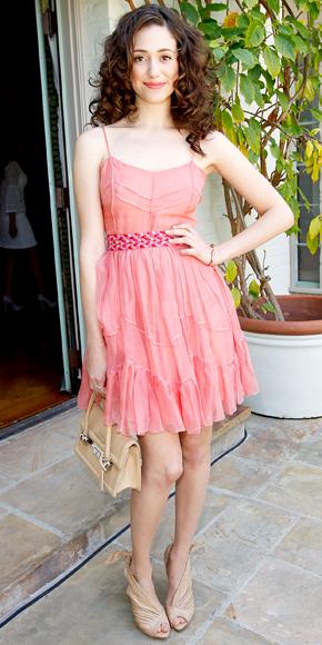 Emmy Rossum in Christian Dior