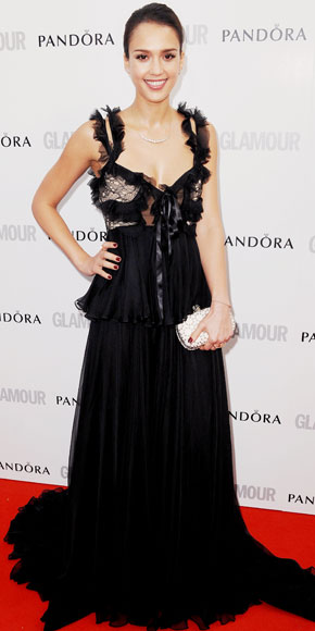 Jessica Alba in Alexander McQueen