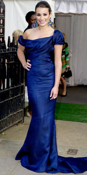 Lea Michele in Zac Posen