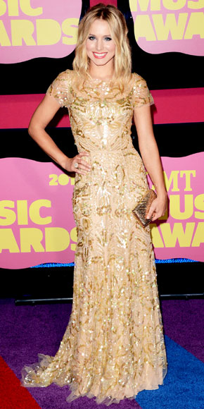 Kristen Bell in Reem Acra