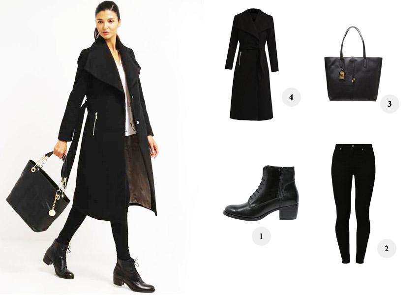 Kollage: All black Zalando