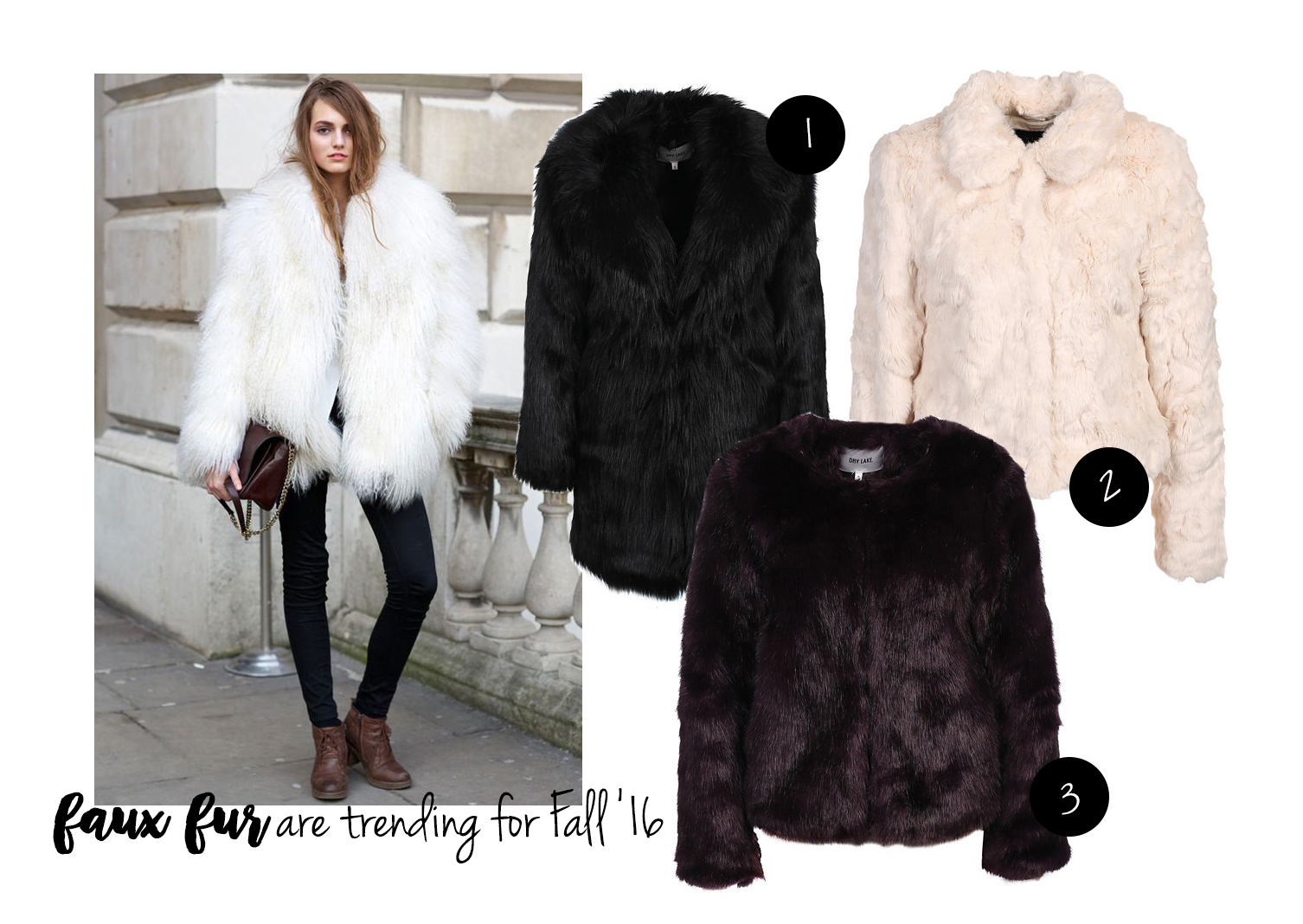 faux fur are trending for Fall '16