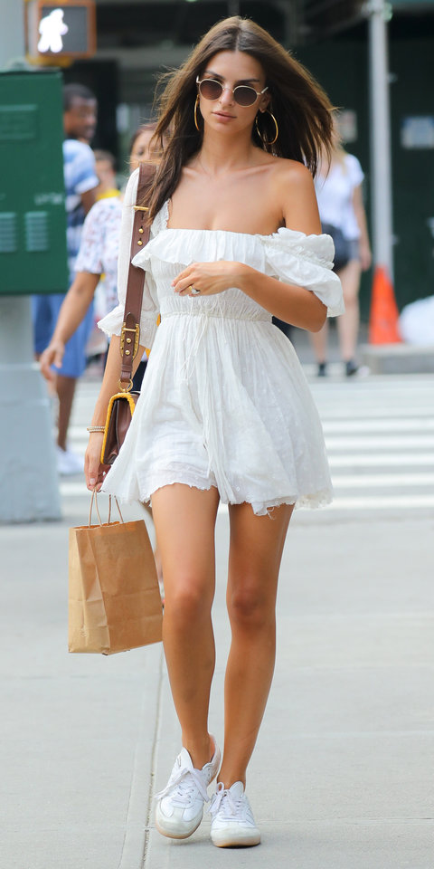 Emily Ratajkowski get the look, steal her style, sno stilen