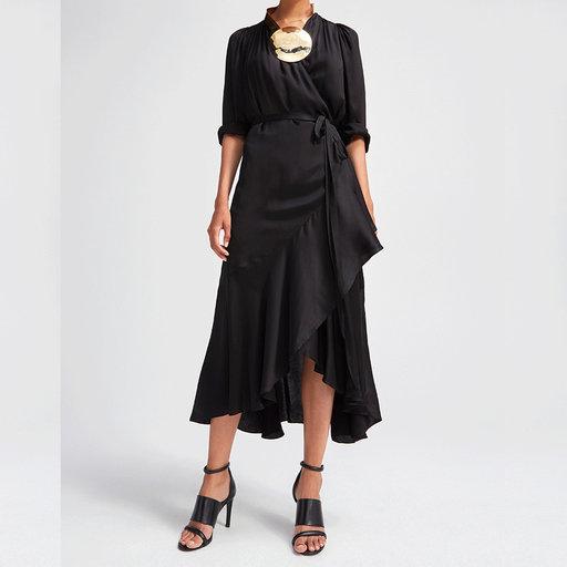 Rodebjer Milania Satin klänning svart