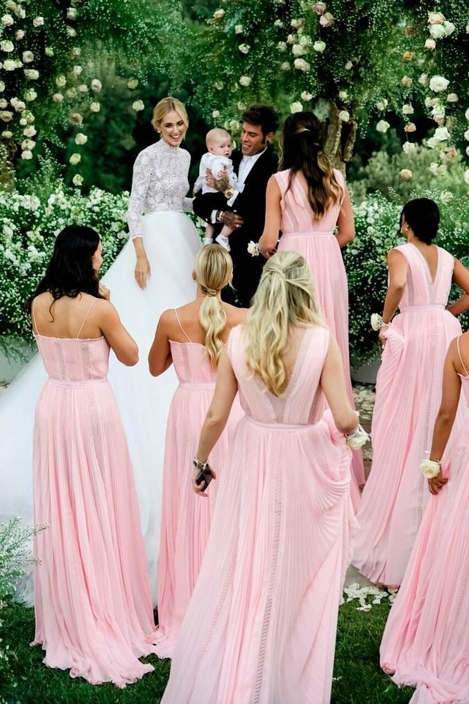 tärnklänningar Chiara Ferragni bröllopsklänningen brudklänning wedding dress