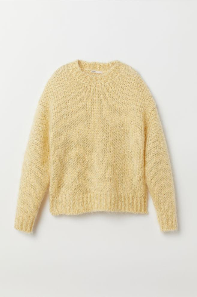 HM gul stickat stickad tröja vår