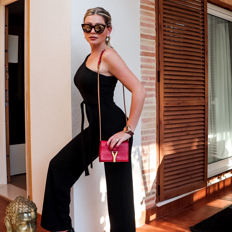 svart jumpsuit dagens outfit modeblogg Göteborg