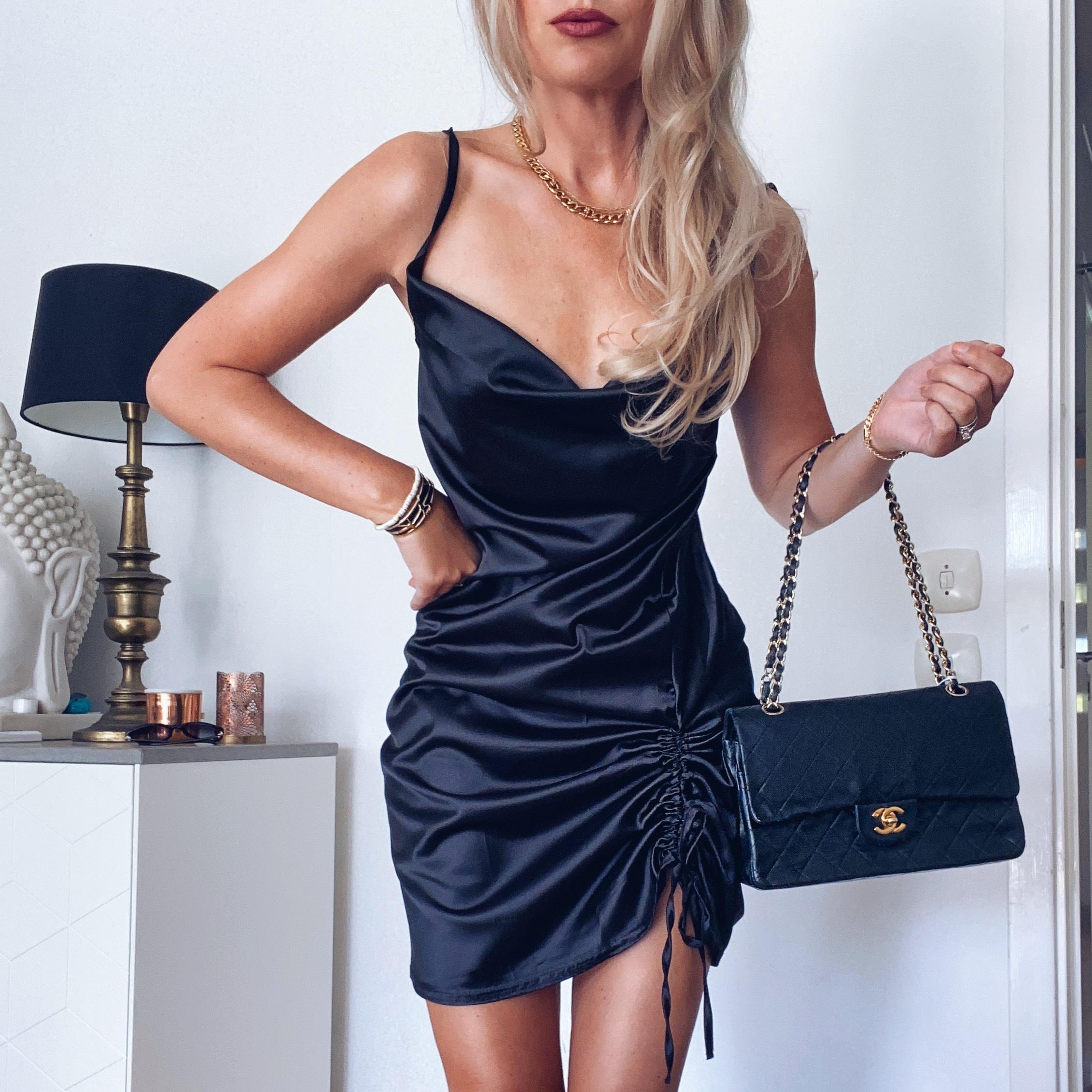 FemmeLuxeFinery satin dress